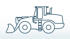 Wheeled loaders and dumpers